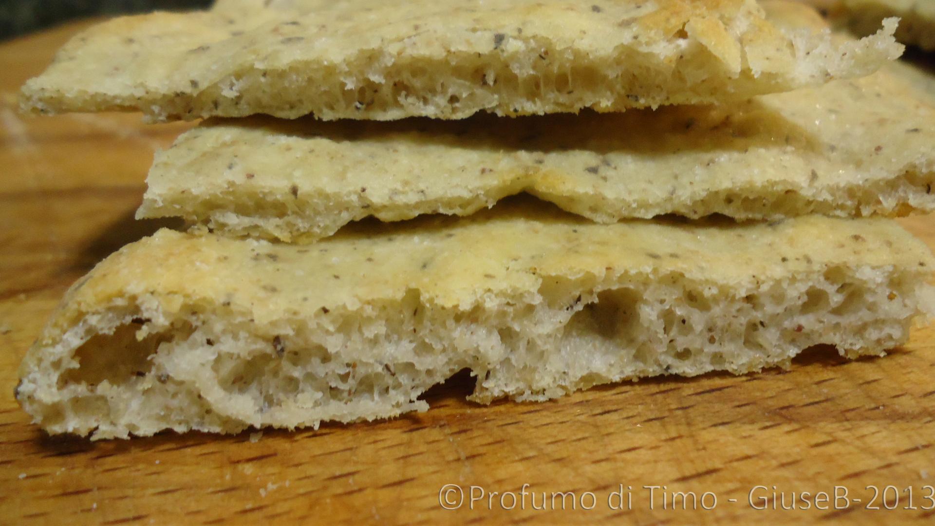 Schiacciata con farina di Grano saraceno(1)
