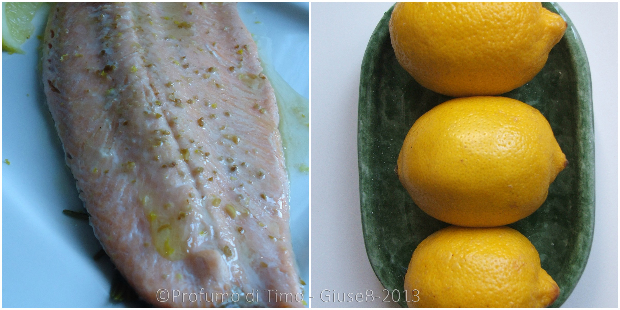 salmone limone Collage