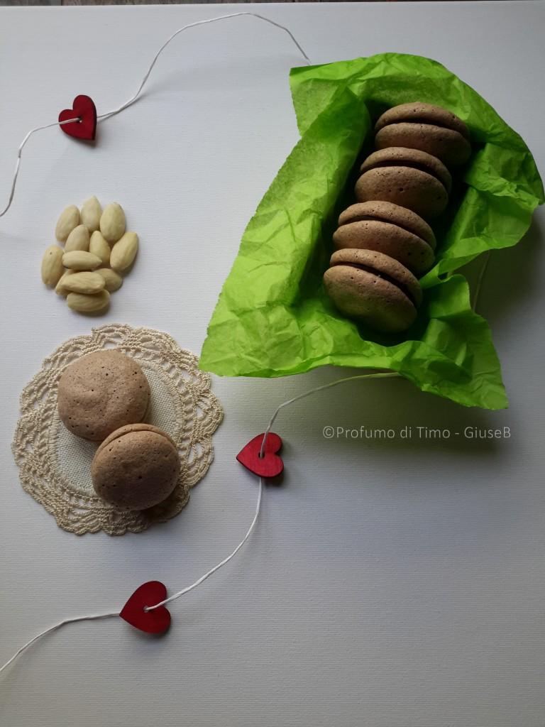 macarons al cioccolato fondente per lo #scambioricette tra BlogGalline