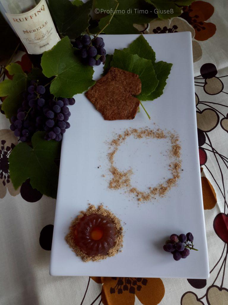 """Gelatina di Vin Santo del Chianti """"Serelle"""" con briciole di Cantuccini"""