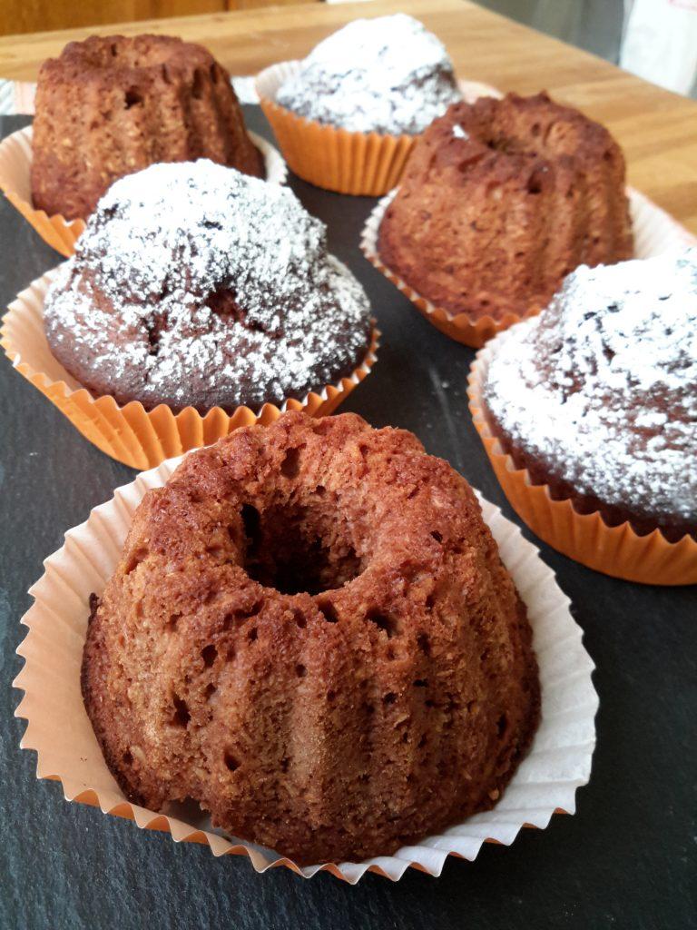 muffins al cocco e cioccolato fondente