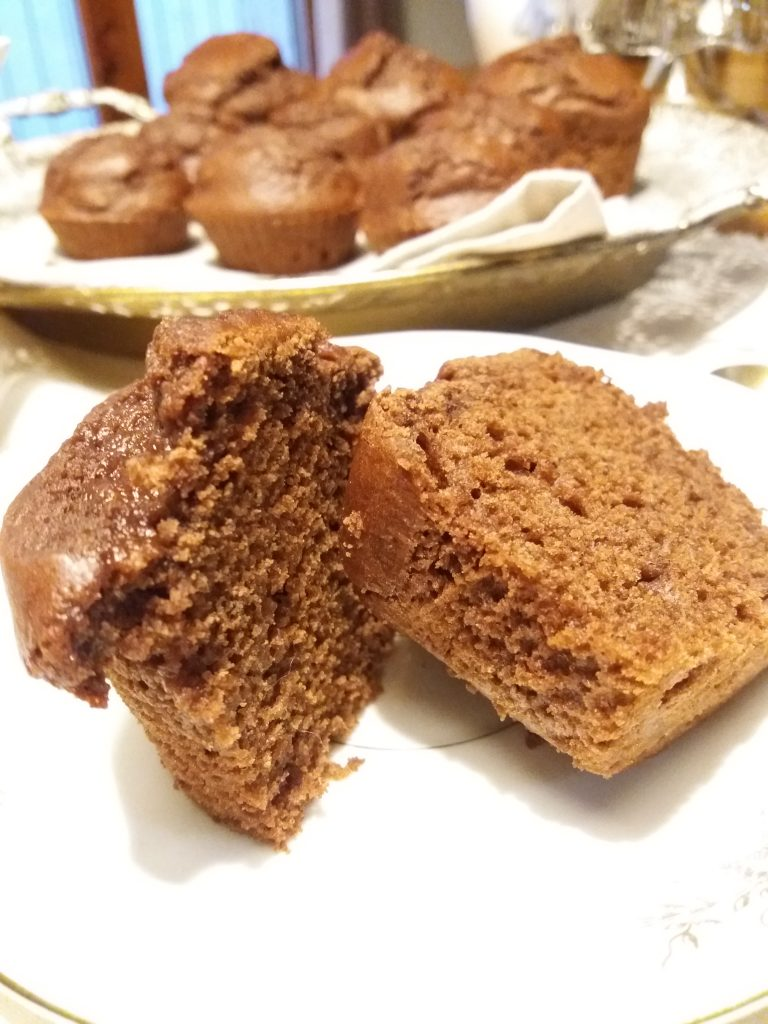 Muffins al cacao senza lattosio
