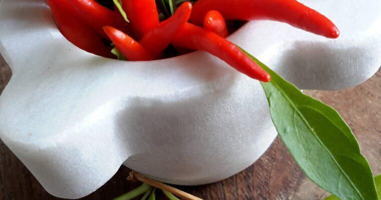 Foglie di barbabietole rosse al peperoncino