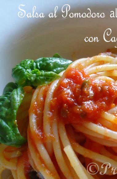 Salsa al Pomodoro al profumo d'estate con Capperi e Basilico & Bloggalline in Tour a Firenze