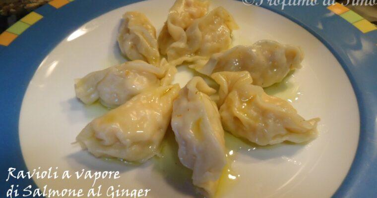 Ravioli di Salmone al Ginger cotti a vapore