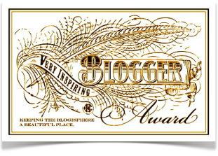 La generosità delle Blogger è grande! VERY INSPIRING BLOGGER AWARD