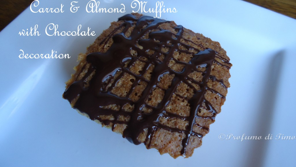 carrots & almond Muffins with chocolate decoration (11)