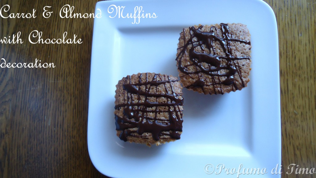 carrots & almond Muffins with chocolate decoration (14)