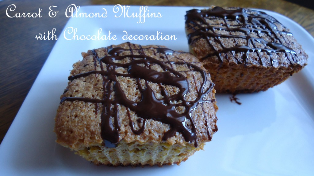 carrots & almond Muffins with chocolate decoration (17)