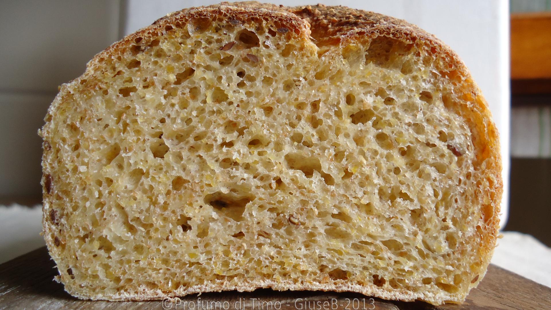 Pane con semi di lino alle 3 farine e Pasta Madre 2