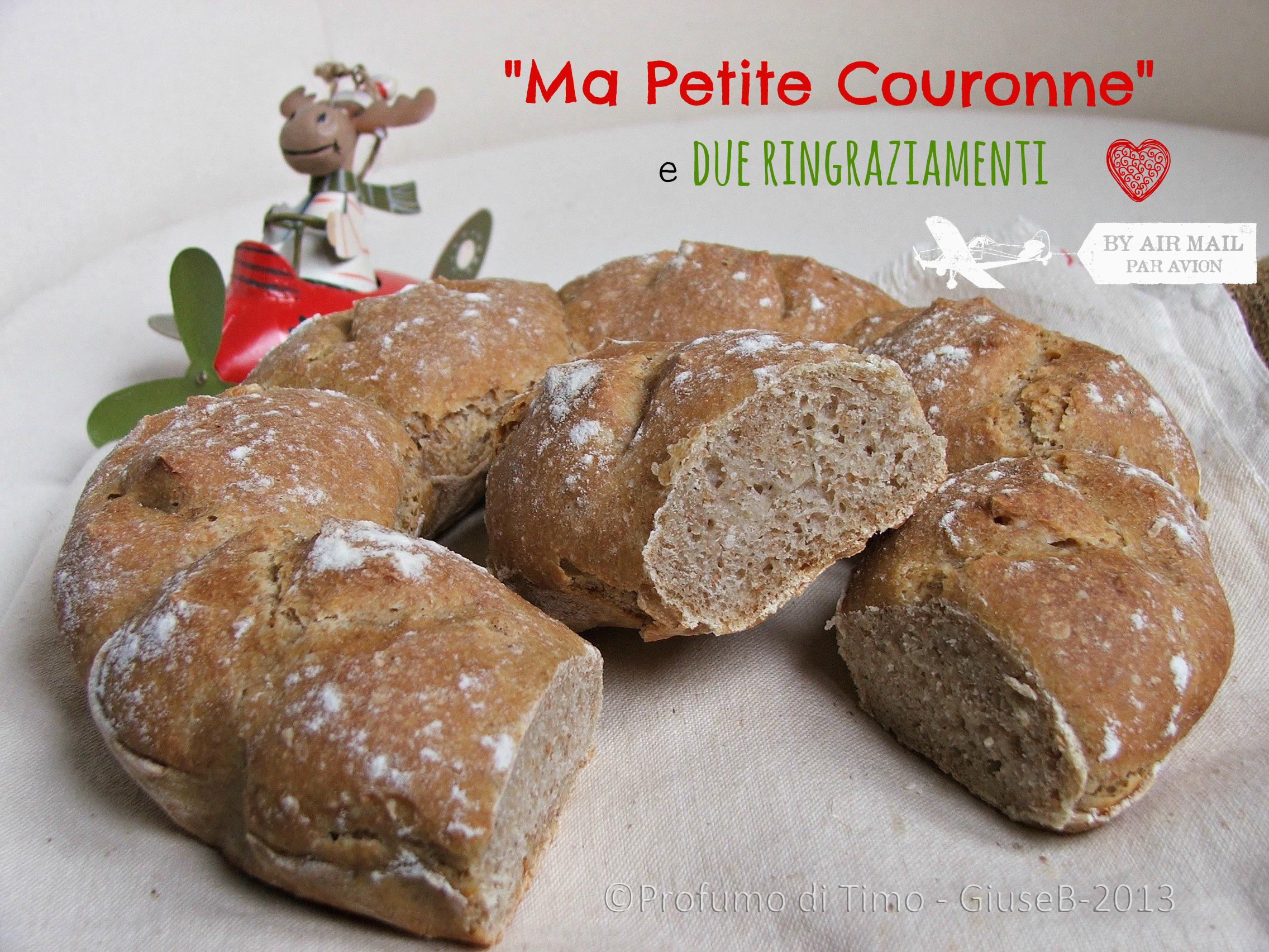 """""""Ma petite Couronne"""" e 2 ringraziamenti"""