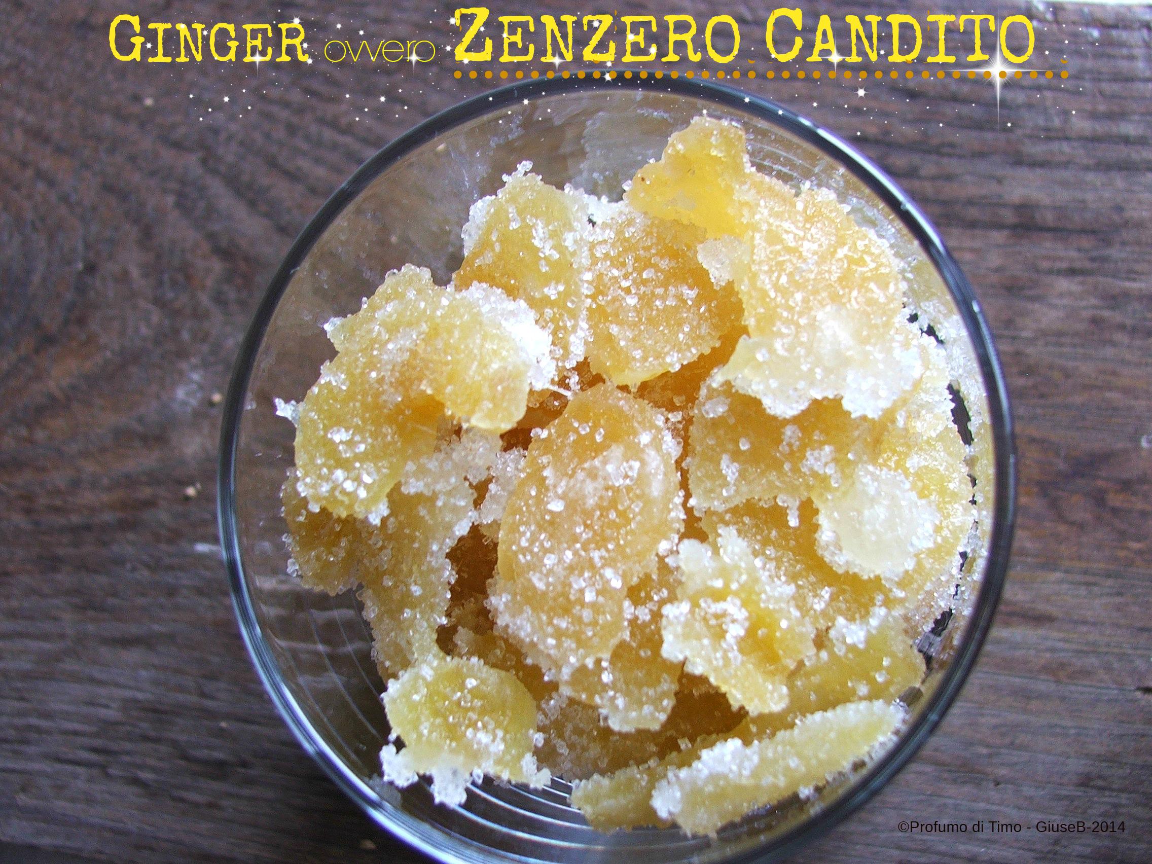 GINGER ovvero ZENZERO CANDITO